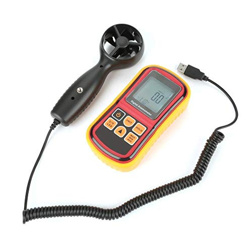GYW-YW Detector de metales Anemómetro digital, GM8901 TESTADOR DE VELOCIDAD DE AIRE LCD LCD Velocidad del viento Medidor de temperatura