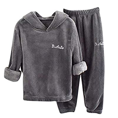 MOHOLL Kids Boys Girls 2 Pieces Hooded Pullover Pants Set Casual Fleece Velour Jog Set Long Sleeve Top Pants 2-8 Years