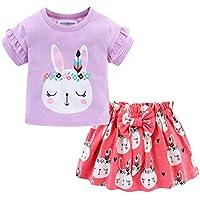 Mud Kingdom Little Girls Skirt Set (5T, Purple)