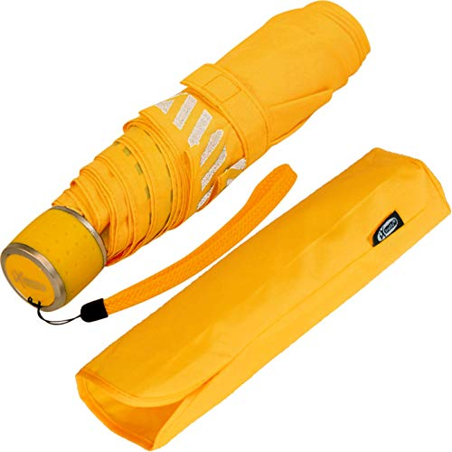 iX-brella Mini Kinderschirm Safety Reflex extra leicht - neon gelb