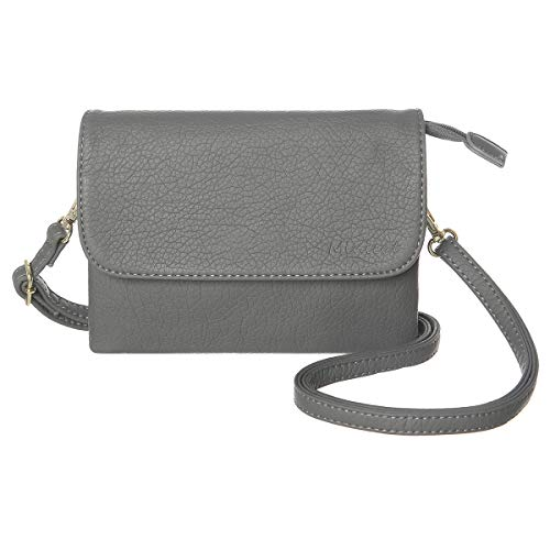 MINICAT Crossbody Purse Bulit in Wallet Small Crossbody Bags Pocketbooks for Women(Dark Grey,Small)