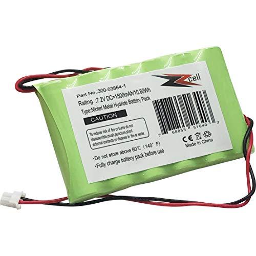ZZcell Battery for Honeywell Ademco Alarm Part # 300-03864-1 LYNXRCHKITHC 781410403291 55026089 WALYNX-RCHB-SC WALYNXRCHBSC LYNXRCHKIT-SC 1500mAh (Note: Please Check Part No. Before Purchase)
