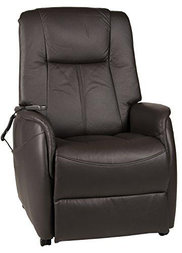 Duo Collection Fernseh-TV-Sessel Turin, Aufstehhilfe, Motor, Liegefunktion, stufenlos elektrisch verstellbar, Fernbedienung, Bezug Leder, schoko-braun