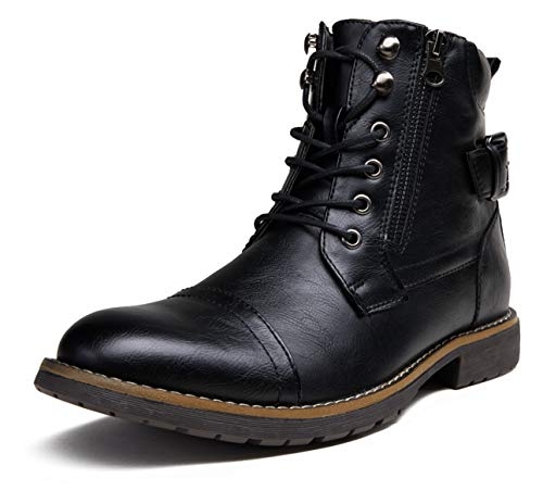 Vostey Men's Boots Black Boots for Men Casual Boots Motorcycle Combat Ankle Dress Boots Mens...
