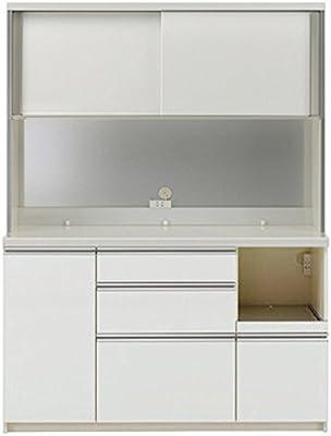 パモウナ 食器棚KL パールホワイト 幅140×高さ187×奥行45 日本製 KLR-S1400R
