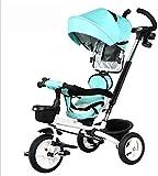 Ccgdgft Chariot bébé Chariot Pliant Enfants Tricycle / 1-6 Ans Vélo/bébé vélo bébé Landau Poussette vélo