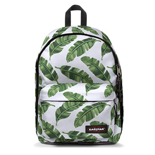 Eastpak Out of Office Zaino, 44 cm, 27 L, Bianco (Brize Leaves Natural)