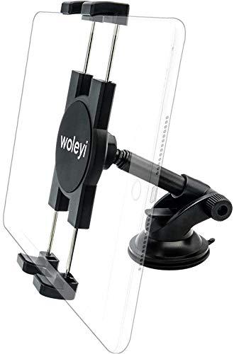 woleyi Soporte para salpicadero de coche, soporte para tablet de salpicadero, con diseño de tubo telescópico fácil, para iPad Pro 12.9 10.5 9.7 Air Mini 5 4 3 2, iPhone 12 y 4-13' Tablet