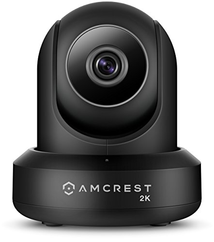 Amcrest UltraHD 2K WiFi Video Security IP Camera w/Pan/Tilt, Dual Band 5ghz/2.4ghz, Two-Way Audio, 3-Megapixel @ 20FPS, Wide 90° Viewing Angle & Night Vision IP3M-941B (Black) (Renewed)