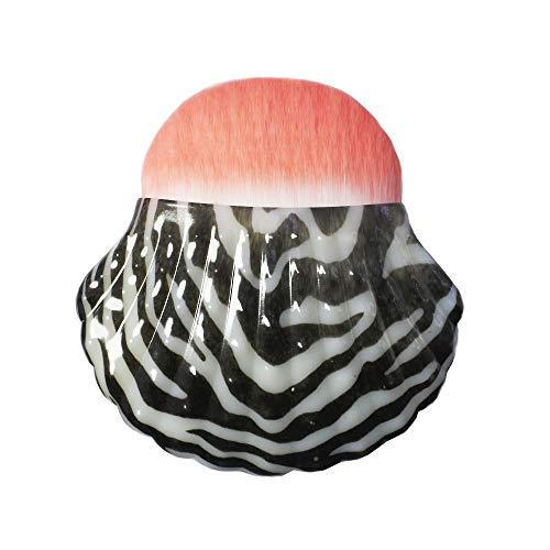 CAIYAN Coquille individuelle ShapeFoundation Blush Brush Beauté Maquillage Outils Portable Multifonctionnel Brosses De Maquillage (Color : Leopard)
