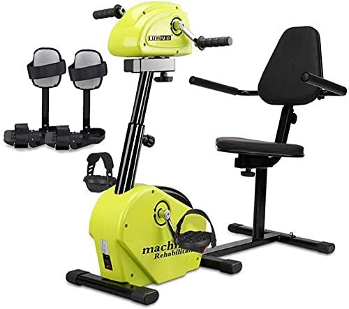 Bicicleta de Ejercicio motorizada eléctrica para Ejercicios - Ejercitador de Pedales para Miembros Superiores e Inferiores, con Pantalla LCD, máquina para Entrenamiento de rehabilitación de