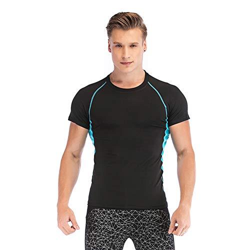 SKYSPER Camiseta Deportiva Hombre de Manga Corta Camiseta de Compresión para Hombre...
