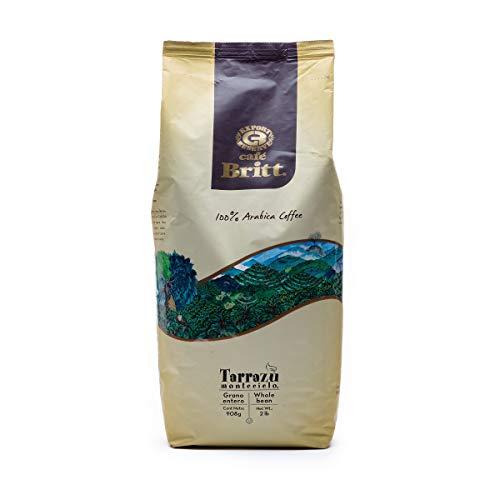 Café Britt® - Costa Rican Tarrazu Montecielo (2 Lbs) (1-Pack) - Whole Bean, Arabica Coffee, Kosher, Gluten Free, 100% Gourmet & Medium Dark Roast