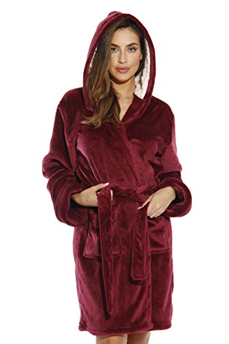 Just Love 6364-BUR-L Kimono Robe/Bath Robes for Women Burgundy