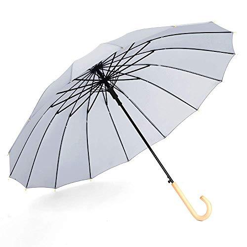 Umbrella Travel Umbrella Umberllas Business Umbrella for Women Men Windproof Waterproof Durable Wooden Handle Large Oversize