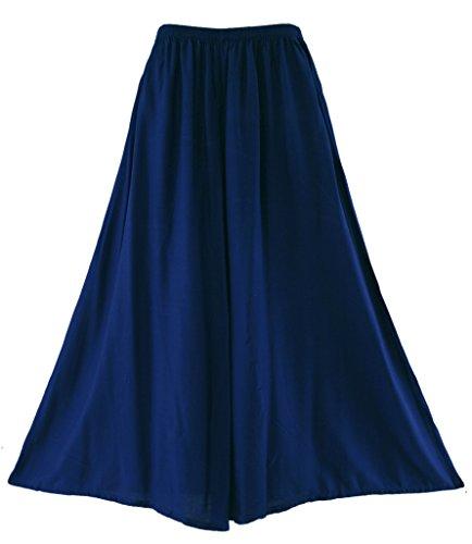 Beautybatik Palazzo pantaloni a gamba larga, taglie forti Navy blue 50