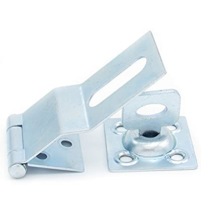 ELBA Heavy Duty Security Hasp 4.5 Inches, Can be Used Indoors and Outdoors on Gates or Windows, For Safety and/or Decorative Combination. Bolt Your House Shut By Adding a Padlock To this Hasp!