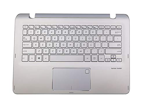 Silver Laptop Top Case Backlit Keyboard Palmrest Touchpad Assembly 13NB0AL3AM0801 for Asus Q304UA Series
