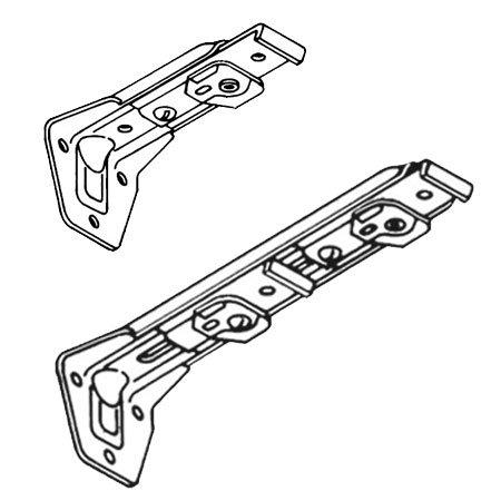 Kirsch Superfine Traverse Rod Center Supports Long Double