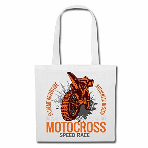 sac à bandoulière MOTOCROSS RACE VITESSE EXTREME SPORTS MOTOCROSS MOTOCROSS BIKE OUTDOOR Crossbike FREESTYLE Sac Turnbeutel scolaire en blanc