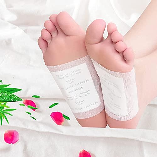 Detox Pflaster Fuß, 200 Stück Bambuskohle-Entgiftungs-Fußpflaster Lindert Müdigkeit, Fördern die Durchblutung- Lindern Schmerzen und Verbessern den Schlaf entfernen Sie Giftstoffe aus dem Körper