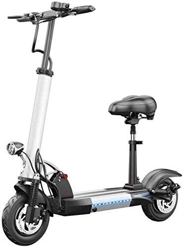 BRFDC Electric Scooter para Adultos Scooter eléctrico 500W Potente Motor de hasta 37 mph manija Ajustable y el Asiento Plegable portátil de E-Scooter for Adultos