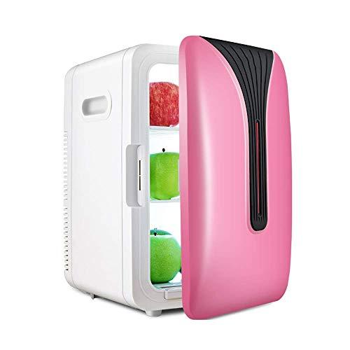 LYLSXY Coche Mini Refrigerador, Capacidad Pequeña Refrigeradora, Mini Refrigerador Frío Y Frigorífico Refrigeración de Doble Núcleo, Alenamiento de Múltiples Capas, Adecuado para Oficina, Dormitorio,