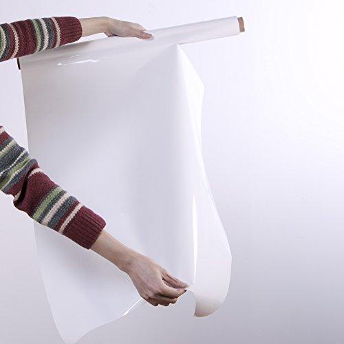 Feuilles Tableau Blanc Smart - Rouleaux De 20 Feuilles Inscriptibles Pour Écrire - Rouleau Adhésif Effaçable à Sec - 60cm x 80cm - Blanc
