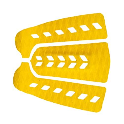 SM SunniMix 3Pcs Tabla De Surf Tail Pad Deck Grip Mat Shortboard Skimboard Sup Accesorios - Amarillo