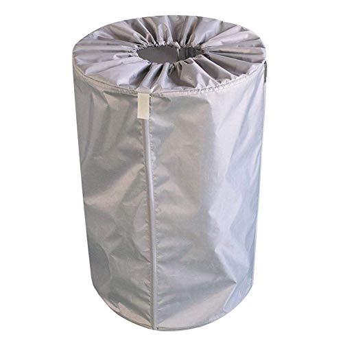 Bolsas para desechos de jardín 30L Revestimiento Impermeable Bolsa para Ropa Resistente Bolsa Reutilizable Plegable para Patio Contenedor de desechos de Garaje/Contenedor de Hojas (Color: Gris)