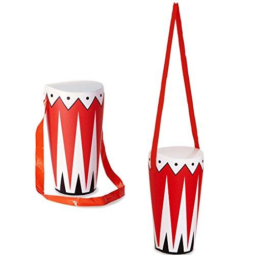 Hinchable de tambor BONGO de la selva Busch tambor decoración zulú regañabay músicos instrumento musical de la fiesta de la música accesorio de disfraces de carnaval de hinchable