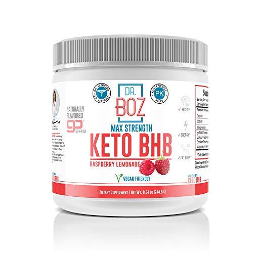 Dr. Boz Keto BHB Powder [Exogenous Ketones Supplement] - Best Keto Supplement for Weight Loss - Keto Supplement | Keto Shake – Keto Diet BHB Powder - [Raspberry Lemonade 244g]