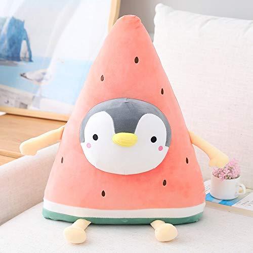 Watermelon plush toy soft doll cartoon fruit penguin bear rabbit pillow sofa cushion child girl birthday home decoration without battery 50cm