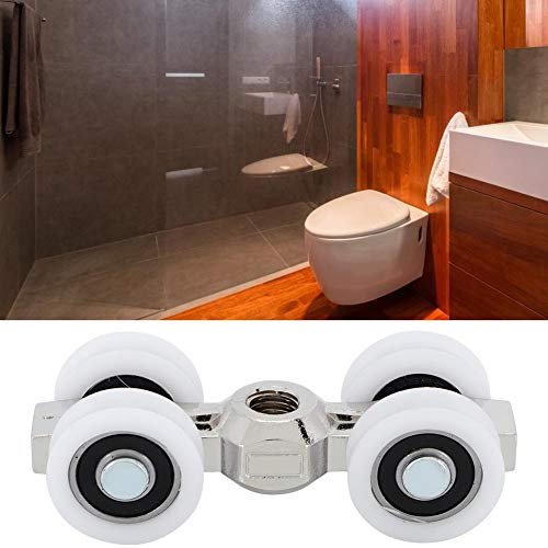 AUNMAS Power Schuifdeur Roller Overhead Pocket Line deuren geleiderlagers 4 wielen hangers voor woonmeubels badkamer