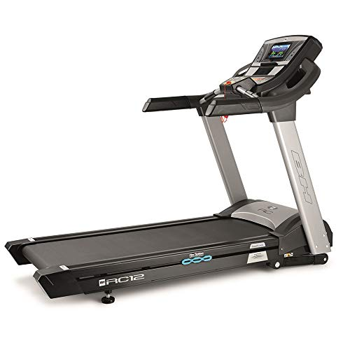 BH Fitness RC12TFT G6182TFT Tapis Roulant Elettrico 22 Km/h, Touch Screen, WiFi, Grigio