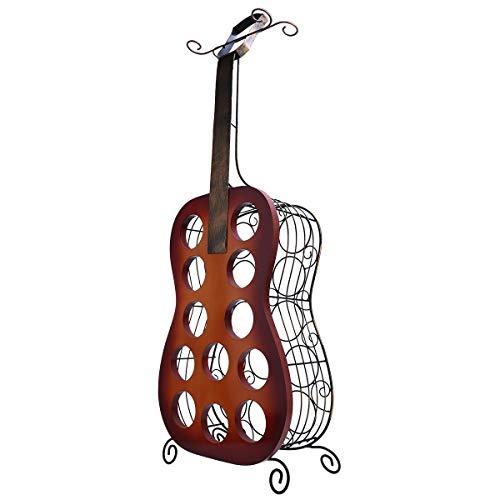 DHTOMC Weinregal 12 Flaschen Gitarre Weinregal Große Gitarre Kunstdekoration Kreatives WeinregalWeinlagerung Display Regal