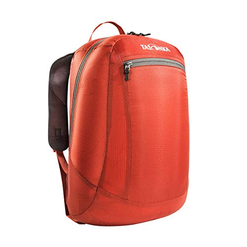 Tatonka Squeezy - faltbarer Rucksack mit Fronttasche - ultraleicht und aus reißfestem Material - 18 Liter - rot