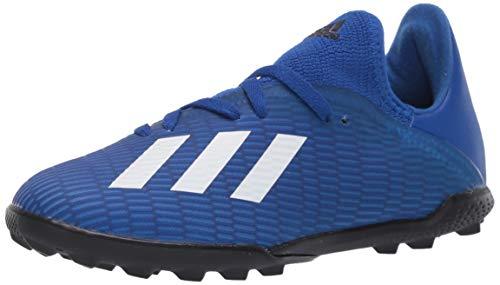 adidas Kids Unisex's X 19.3 Turf Boots Soccer Shoe, Team Royal Blue/FTWR White/core Black, 2 M US Big Kid