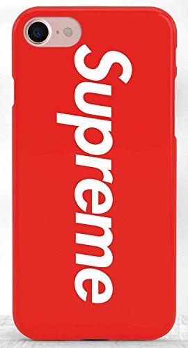 Coque iPhone 7 Supreme Jordan Air Rouge Logo Plastique rigide Rouge et Blanc