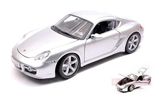 Maisto MI31122S Porsche Cayman S Silver 1:18 MODELLINO Die Cast Model Compatible con