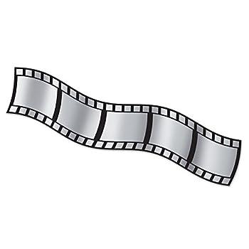 Beistle Filmstrip Metallic Home Decoration Add On - 1 Pc 15  x 25  Silver/Black