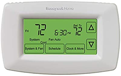 Honeywell Home RTH7600D 7-Day Programmable Touchscreen Thermostat, small, white, 1-pack