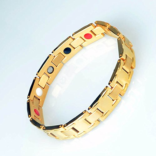B017057 2016 popular Stainless Steel Mens Jewelry Link Magnetic Bracelet for Man