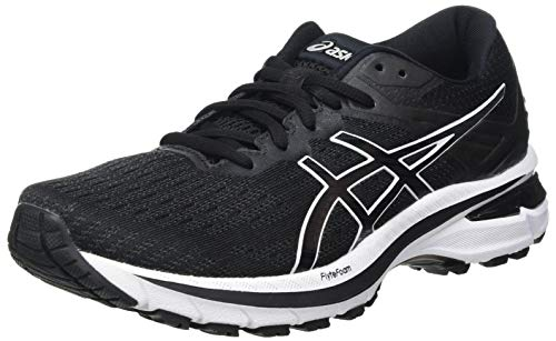 ASICS Damen GT-2000 9 Road Running Shoe, Black/White, 42 EU