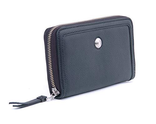 BREE Marbella 2 Kombibörse in schwarz | Geldbörse für Damen | Portemonnaie lang 3x10x18 cm (B x H x T)