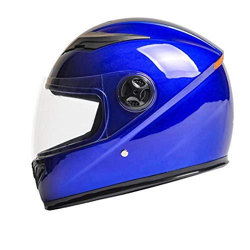 Batterie Autohelm Damen Elektro Motorrad Mütze Winter warm Batterie Autohelm Leichtbau,Latzteil [blau] _Eine Größe