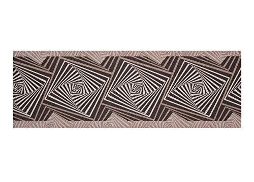 BIANCHERIAWEB Tappeto Passatoia in Tessuto Jacquard Linea Emozioni Disegno Optical Grigio 57x115 Grigio
