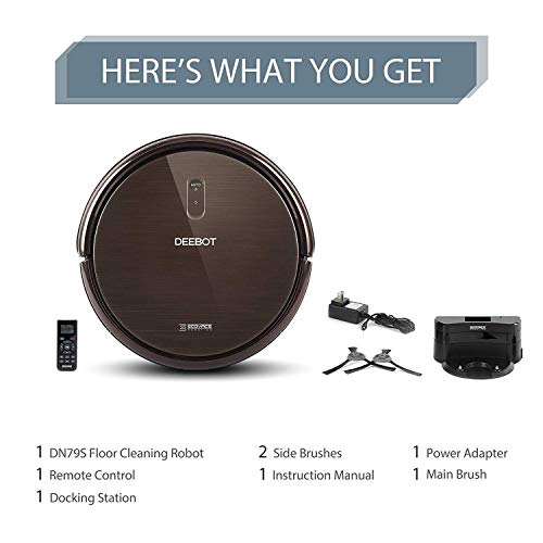 ECOVACS DEEBOT N79S Robot Vacuum Cleaner Max Power Suction, Alexa Connectivity, App Controls, Self-Charging Hard Surface Floors & Thin Carpets