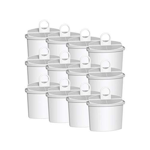 AquaCrest AQK-12 Kompatibler Kaffeemaschinen Wasserfilter Ersatz für Braun Brita KWF2; Aroma Select KF130, KF140, KF145, KF147, KF150, KF155, KF160, Aroma Passion KF550, KF560, KFT150, KK148 (12)