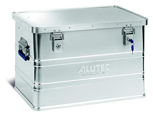 ALUTEC MÜNCHEN ALT-CL11068 Caja de aluminio con cerradura de cilindro (595 x 390 x 380 mm), Plata, 68 Liter
